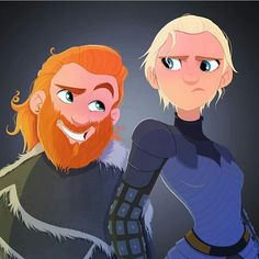 Game of Thrones Tormund and Brienne - artwork by @susancurrydesign ° ° ° #tormund #brienneoftarth #outhkeeper #jonsnow #fanart