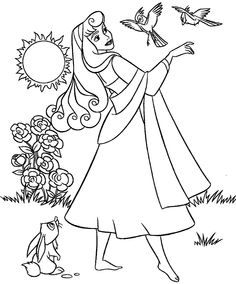 49 best Sleeping Beauty Coloring Pages images on Pinterest