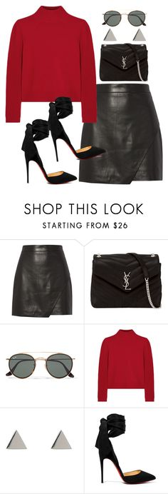 """Sans titre #774"" by el-khawla ❤ liked on Polyvore featuring Michelle Mason, Yves Saint Laurent, Ray-Ban, Chloé, Latelita and Christian Louboutin"