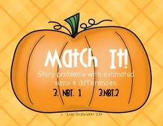 Match it! - Story problems with estimated sums & differences Math Help, Fun Math, Math Games, Math Classroom, Classroom Activities, Classroom Ideas, Math Addition, Addition And Subtraction, 4th Grade Math