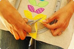 Machine embroidery tutorial