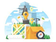 Download Maps Illustration by Radik Zagidullin #Design Popular #Dribbble #shots
