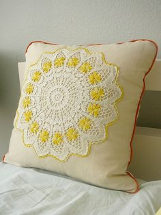 I made one of these with an antique doily!  I love it!