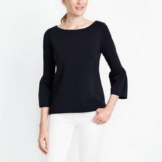 This pretty bell sleeve top is less than $30, comes in 4 colors and is available in sizes XXS-XXL! Don't miss out!  #top #tops #bellsleeves #workwear #onsale #affiliate