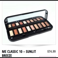 Me classic 10 - Sunlit Breeze BRAND NEW BRAND NEW!!This makeover essential palette has 10 classic shades. Come with a two sized brush. A flay headed brush and a buffer brush. In Addition there is a black pencil eyeliner. Shades are based off of a gold & pink. Ask questions if you are interested. Thank you! Makeover essentials Makeup Eyeshadow
