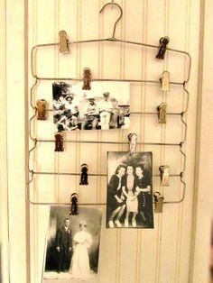 Vintage Skirt Hanger / Multi Clip Hanger for Linens, photos, Artwork, Office Organization