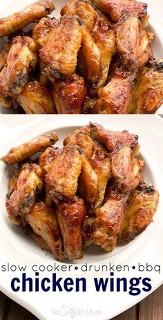These wings are super moist and tender on the inside with a sticky bbq caramelized sauce. Wings Slow Cooker, Crock Pot Slow Cooker, Crock Pot Cooking, Slow Cooker Chicken, Chicken Meals, Bbq Chicken Wings, Chicken Wing Recipes, Crockpot Recipes, Cooking Recipes
