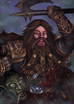 Dwarven warrior by Shockbolt on DeviantArt