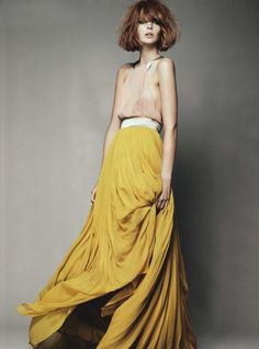 mustard color long skirt | #fashion #photography