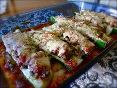 Easy Italian Sausage and Zucchini Boats