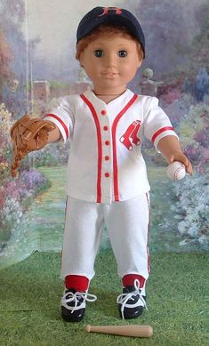 Play Ball Pick Your Team by MyGirlClothingCoHeir on Etsy American Girl Halloween, American Boy Doll, American Doll Clothes, Boy Doll Clothes, Doll Clothes Patterns, Girl Clothing, Barbie Clothes, Doll Patterns, Dress Patterns