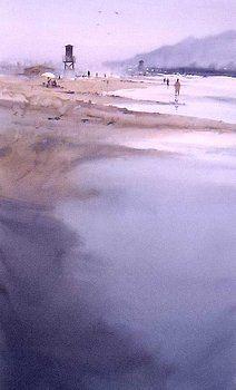 Vera Beach by Manolo Jimenez - Vera Beach Painting - Vera Beach Fine Art Prints and Posters for Sale Watercolor Water, Watercolor Artwork, Watercolor Landscape, Impressionist Landscape, Art Courses, Paintings I Love, Landscape Illustration, Environmental Art, Street Art Graffiti
