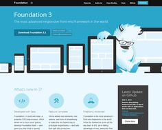 Foundation 3 -   The most advanced responsive front-end framework in the world.