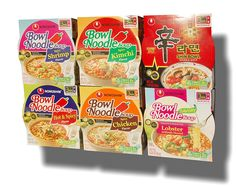 Nongshim Bowl Instant Noodle Soup Assorted Bundle 6 Flavors: Shin Bowl   Lobster   Spicy Shrimp   Spicy Kimchi   Spicy Chicken   Hot and Spicy (12-pack) *** Discover this special item, click the image : Fresh Groceries