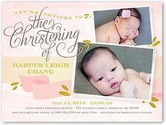 Cross Of Girl Baptism Invitations. Invite everyone to this memorable and blessed occasion. Personalize this baptism invitation with all the event details Christening Invitations, Baptism Favors, Baptism Invitations, Invitation Cards, Wedding Invitations, Photobooth Layout, Tarpaulin Design, Boy Baptism, Child Life
