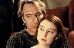Still of Alan Rickman and Georgina Cates in An Awfully Big Adventure (1995) http://www.movpins.com/dHQwMTEyNDI3/an-awfully-big-adventure-(1995)/still-821148160