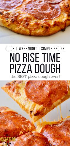 Amazingly Delicious Pizza Dough with NO RISE TIME - Quick and delicious and ready to bake in minutes! Perfect for weeknight pizza! So easy and SO tasty. Start a family pizza and movie night! Pizza Dough Recipe Quick, Quick Pizza, Easy Pizza Dough, Healthy Recipes, Pizza Recipes, Cooking Recipes, Skillet Recipes, Cooking Gadgets, Yummy Recipes