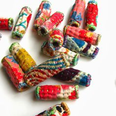 textile fabric beads