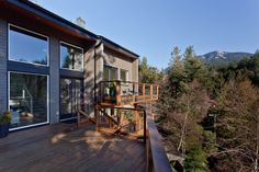 West-coast styled contemporary architecture - view from deck