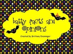 This Halloween themed flipchart reviews facts and opinions. The learning goal is stated at the beginning of the lesson. The meaning of fact and opi...