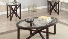 Shop Coaster Furniture Cappuccino Set with great price, The Classy Home Furniture has the best selection of 3 in 1 Pack to choose from Apartment Furniture, Living Furniture, Unique Furniture, Furniture Design, Coffee Table Length, Round Coffee Table, Tempered Glass Table Top, Furniture Factory, Furniture Catalog