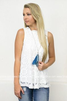 Alba Pleated Lace Top