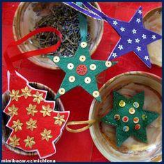 U tří koček modrooček: Vánoční ozdoby z plsti a papíru - VOŇAVÉ