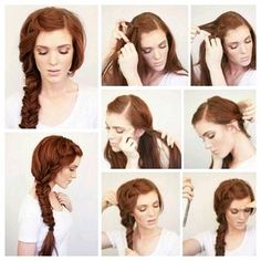 Great braided hair style.