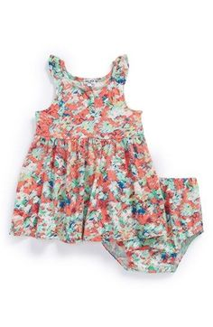Splendid Abstract Floral Print Dress & Bloomers (Baby Girls) available at #Nordstrom