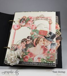 Tati, Mixed media Album, Mon Amour Collection, Product by Graphic 45
