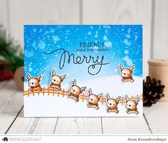 Mama Elephant Stamp Highlight: Little Reindeer Agenda @akossakovskaya @mamaelephant #cardmaking #mamaelephant