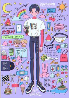 Kpop Anime, Character Art, Character Design, Cute Art Styles, Kpop Fanart, Pretty Art, Aesthetic Art, Cute Drawings, Art Inspo
