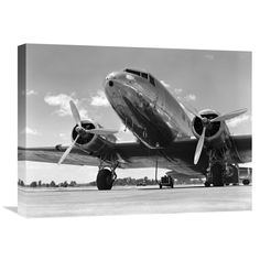 Global Gallery H. Armstrong Roberts '1940s Passenger Airplane' Canvas Wall Art