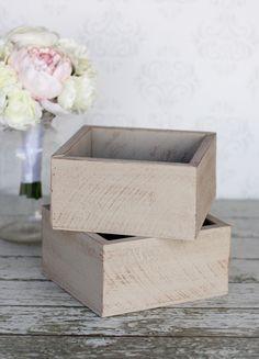 Barn Wood Planter Box Wedding Centerpiece Rustic Shabby Chic Decor SET of 2 WS5000