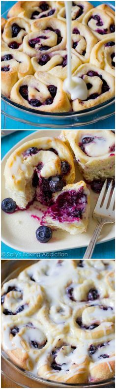 These Blueberry Sweet Rolls are amazing! Only require 1 rise. So quick!