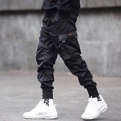 Harajuku Black Joggers Men Cargo Pants 2019 New Elastic Waist Design Harem Pants Men Sweatpant Block Loose Hip Hop Pnats Men Mens Cargo, Cargo Pants Men, Jogger Pants, Harem Pants, Men Trousers, Slim Fit Joggers, Black Joggers, Black Pants, White Pants