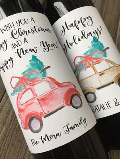 Personalized Wine labels are the perfect HOLIDAY GIFT! Cant go wrong with wine and personalizing them with your name adds that special thoughtful touch! These Wine labels add a special touch to a great gift for family, friends and teachers! These labels are also perfect for decorating