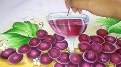 Transparência, Como pintar cálice com vinho, pintura em tecido
