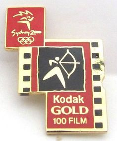 #Kodak gold film archery logo #sydney olympic games 2000 pin #badge collect #181,  View more on the LINK: http://www.zeppy.io/product/gb/2/261525823558/