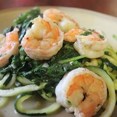 Shrimp Florentine with Zoodles