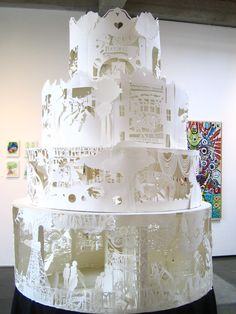 paper art - it's like a wedding cake! I hope it tells a love story :)