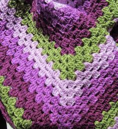 Such lovely colour combination Ravelry: chocolatedogyarns' Granny square afghan