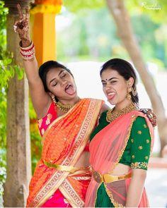 Gold For Jewelry Making Half Saree Designs, Lehenga Designs, Saree Blouse Designs, Vaddanam Designs, Half Saree Lehenga, Anarkali, Indian Wedding Bride, Wedding Gold, Indian Bridal Outfits