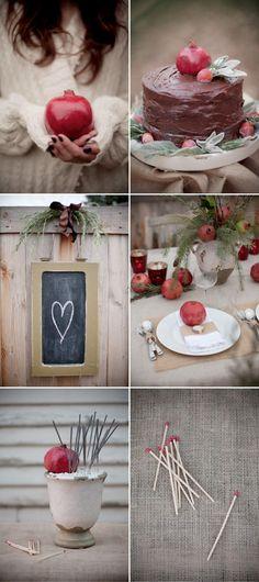 pomegranate cake topper
