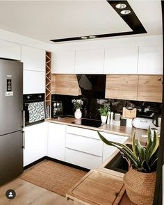 home decor kitchen Inspi_Deco on Instag - Kitchen Room Design, Outdoor Kitchen Design, Modern Kitchen Design, Home Decor Kitchen, Kitchen Interior, Home Kitchens, Kitchen Kit, Kitchen Taps, Island Kitchen