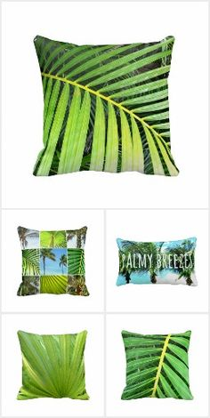 Palm Breeze Designs Green Colors, Breeze, Palm, Throw Pillows, Collection, Design, Cushions, Decorative Pillows, Decor Pillows