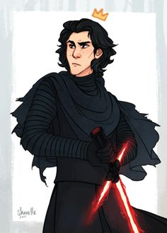 OK I know this has been brought up a lot already, but since his mother is technically a Disney princess….. does this mean Kylo Ren = actual Disney prince Ben Organa-Solo ?? ?aand to no-one's surprise this emo space prince is my most terrible of faves