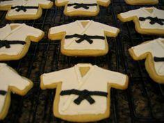 karate cookies...jersey cookie cutter