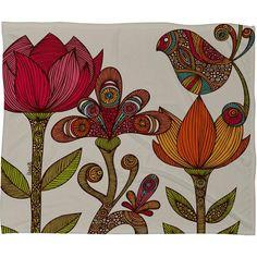 Valentina Ramos In The Garden Fleece Throw Blanket