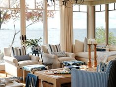 Sarah Richardson Design - Sarah's Cottage/Summer House (Style at Home July House Styles, Beach House Decor, Sweet Home, Home And Living, Cottage Living, House, Coastal Living Room, Home Decor, House Interior